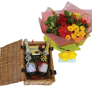 2 English wine hampers
