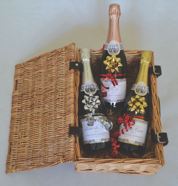 English sparkling wine trio Hamper