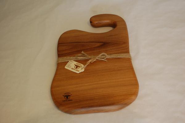 Elm food board with hook