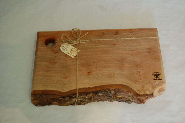 Large London Plane Food Board with bark edge