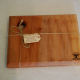 Square London Plane food board with hanging hole