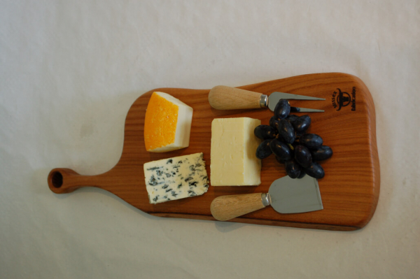 Large paddle food board made from London Plane