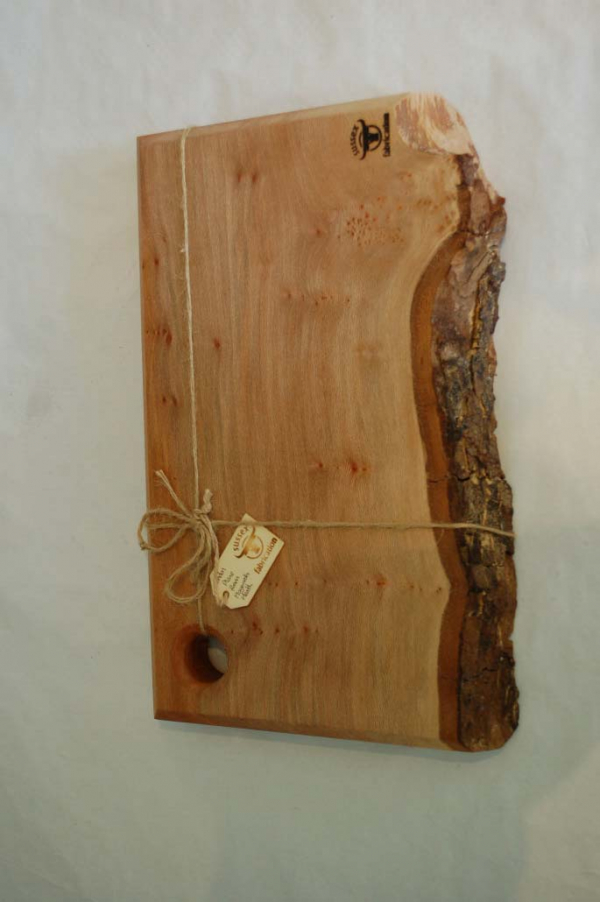 Large London Plane Food Board with bark edge